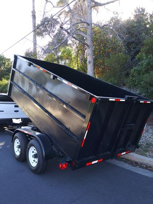 BRAND NEW DUMP TRAILER 8X12X4 HEAVY DUTY HYDRAULIC SYSTEM BOX,6000 LBS EACH AXLE TITLE IN HAND FOR ANY QUESTION TEXT ME PLEASE. for Sale in Los Angeles, CA