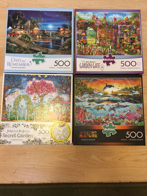 8 Buffalo Games Puzzles 500 pcs