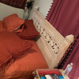 Urban Outfitters Queen Full Pranati Carved Headboard for Sale in Lakewood, OH