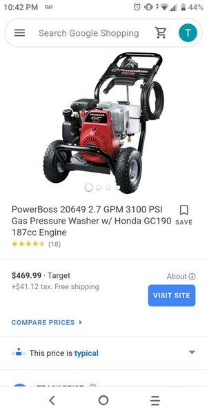 HONDA. PRESSURE WASHER 6.0 HP for Sale in Riverside, CA