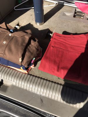 3 Ralph Lauren polo shirts and maroon 501 Levi jeans great shape for Sale in Columbus, OH