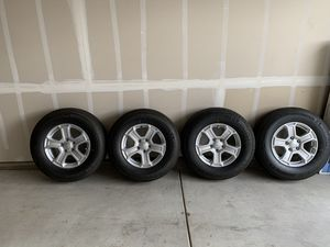 5 Jeep Wrangler unlimited Sport S stock tires / wheels for Sale in Tracy, CA