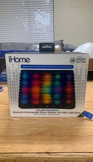 IHome Bluetooth Rechargeable Stereo Speaker with 360 Light Show for Sale in Washington, DC
