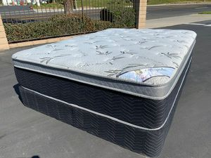 Bamboo Ortho Pillow Top Mattress and Boxspring! for Sale in Montebello, CA