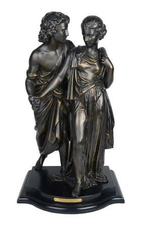 Orphee ET Eurydice Bronze Statue Lovers Collection Francaise Hippolyte Moreau Bronze Statue Only 850 made USA CA074 Weight 32 Pounds Hight 22'' for Sale in Middleton, MA