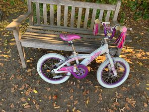 Schwinn jasmine kids bike w training wheels for Sale in Los Altos, CA