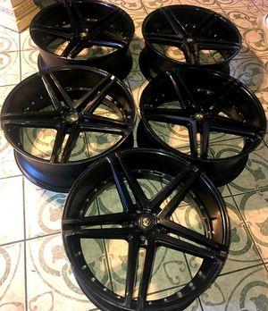 "5 - 24"" Rims Gloss Black No Tires! for Sale in Compton, CA"