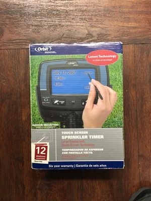 Orbit touch screen sprinkler timer for Sale in Los Angeles, CA