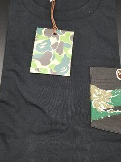 Bape Green Tiger Camo Pocket Tshirt Black for Sale in Chicago,  IL