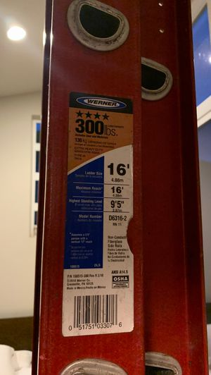 Werner 16' extension ladder for Sale in Lynnwood, WA