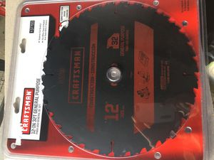 Brand New Craftsman 12IN - 32T Saw Blade General Purpose for Sale in Quincy, MA