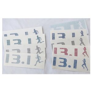 marathon silhouette runner vinyl stickers - 13.1 or 26.2 man and / or woman for Sale in Irvine, CA