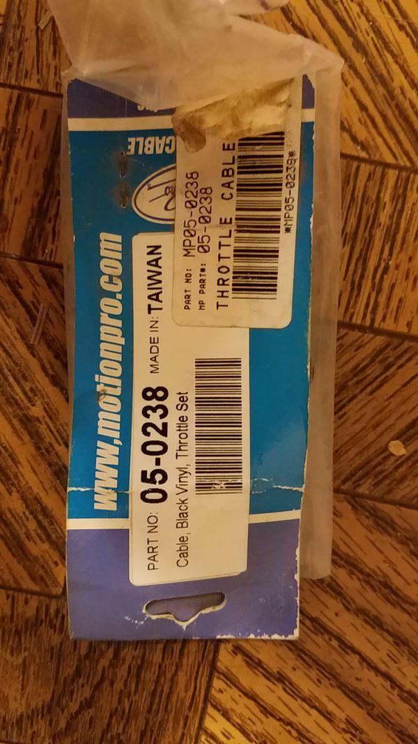 Motion Pro 05-0238 Black Vinyl Throttle Cable Set