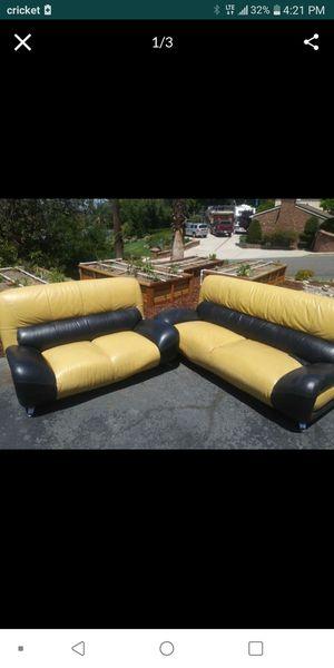 Vintage leather sofa set for Sale in Riverside, CA