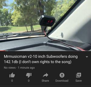 Mrmusicman v2 -10 inch Subwoofers DOING DECIBELS !! for Sale in Tempe, AZ