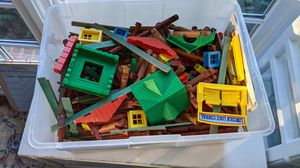 Giant bin of Lincoln Logs for Sale in Poolesville, MD