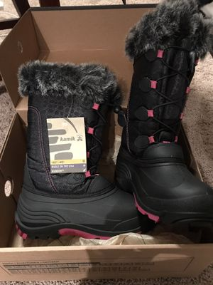 Girls Size 5 Kamik Snow Gypsy Boots for Sale in Watertown, NY