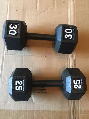 2 Dumbbells (55 lb total) for Sale in Alpharetta, GA