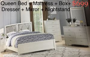 Bedroom set (silver or champagne color available) for Sale in Miramar, FL