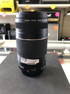 Canon 75-300mm Camera Lens for Sale in Humble, TX