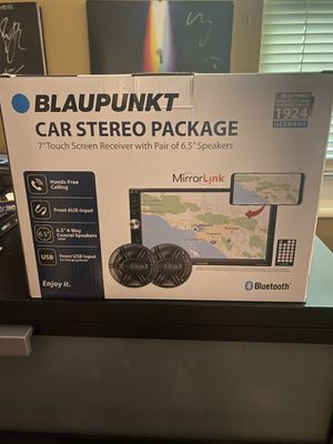 """Blaupunkt Baltimore 7"""" Touch Screen Receiver Pair of 6.5"""" Speaker Car Stereo for Sale in Plantation, FL"""