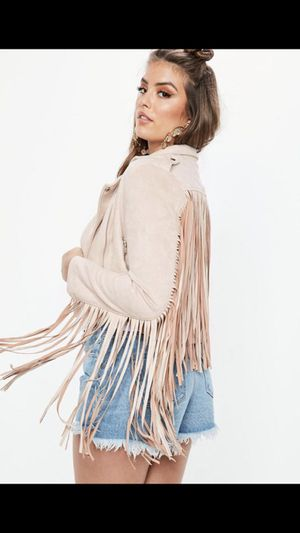 Faux Suede biker jacket with fringe detail for Sale in Fort Myers, FL