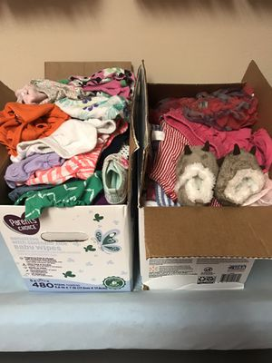 Two boxes of baby girl clothes for Sale in Jacksonville, FL