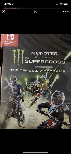 Nintendo switch monster energy super cross for Sale in Murrieta, CA