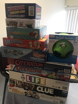 Board and puzzle games for Sale in Boca Raton, FL