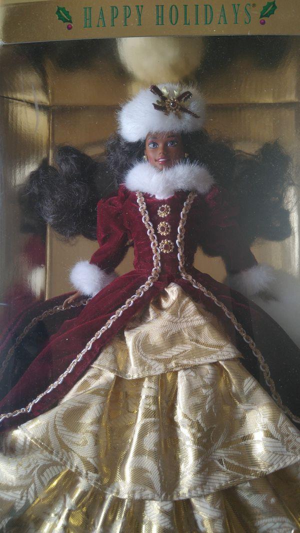 Happy Holidays Barbie doll