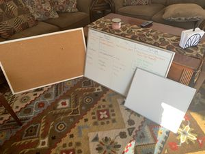 White boards and bulletin board for Sale in Marina, CA