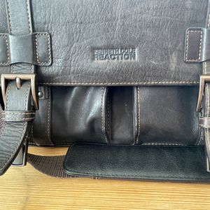 Brown Leather Messenger Bag With I V Pocket By for Sale in Miami, FL