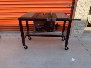 "Delta 10"" Table Saw and steel rolling stand for Sale in San Diego, CA"