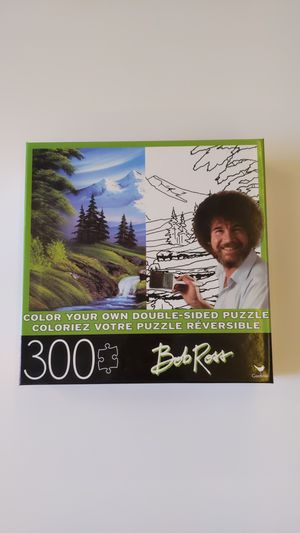 Bob Ross color-your-own double-sided puzzle for Sale in Longmont, CO