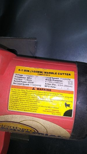 4 1/8 inch marble cutter saw for Sale in Fontana, CA