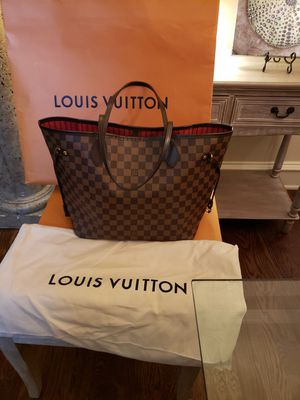 Authentic Louis Vuitton Neverfull mm in damier ebene canvas with the original dust bag, box, shopping bag and receipt for Sale in Dallas, TX