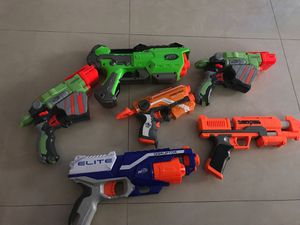 Lot of 6 different NERF guns working for Sale in Miami, FL