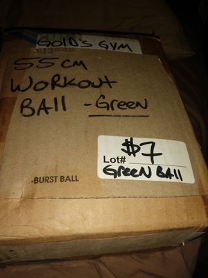 Gold's gym exercise ball. for Sale in Phoenix, AZ