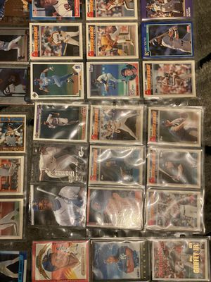 200+ baseball cards in sleeves all together for Sale in North Charleston, SC