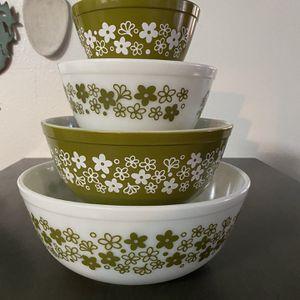 Vintage Pyrex Spring Blossom Nesting Bowls for Sale in Las Vegas, NV
