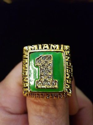 Miami Hurricanes 1989 championship ring for Sale in Cleveland, OH