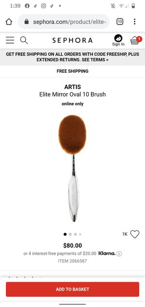Artis makeup brushes / liner brush / lip brush for Sale in Los Angeles, CA