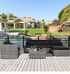 Cloud Mountain 6 Piece Outdoor Rattan Wicker Patio Furniture Set CM0033 for Sale in South El Monte, CA