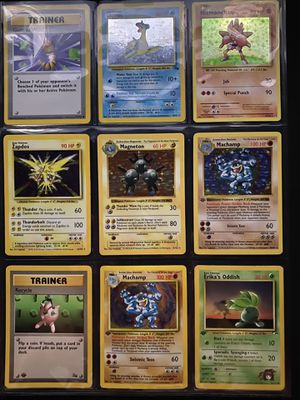 Shadowless and base set rare Pokémon cards (LP-NM) for Sale in Palatine, IL