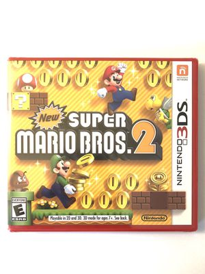 NEW SUPER MARIO BROS 2 FOR NINTENDO 3DS FACTORY SEALED VIDEO GAME for Sale in Rocklin, CA