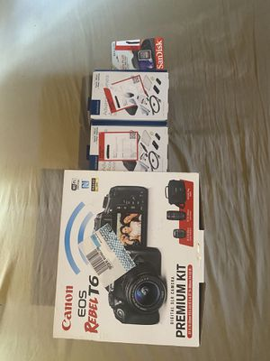 Canon EOS Rebel T6 Premium Kit + Add Ons for Sale in San Antonio, TX