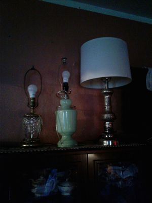 Table lamps $15 each or best offer For all for Sale in Buena Park, CA