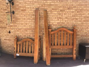 Bed Frame, Solid wood , for Sale in Fowler, CO