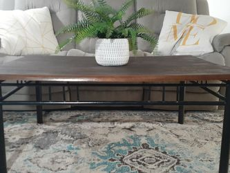 Beautiful Industrial Dark Stained Coffee Table! for Sale in Santa Clarita,  CA