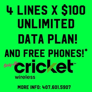 4 Lines by just $100!!! for Sale in Orlando, FL